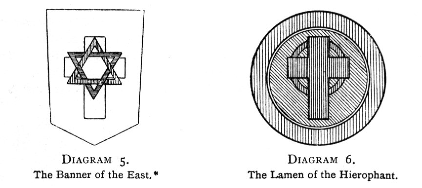 Diagram 5. The Banner of the East* / Diagram 6. The Lamen of the Hierophant.