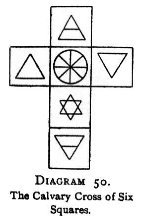 Diagram 50. The Calvary Cross of Six Squares.