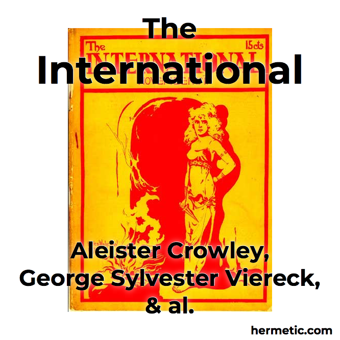 The International archive, a literary magazine which included essays, poetry, plays and libri by Aleister Crowley and works by other authors.