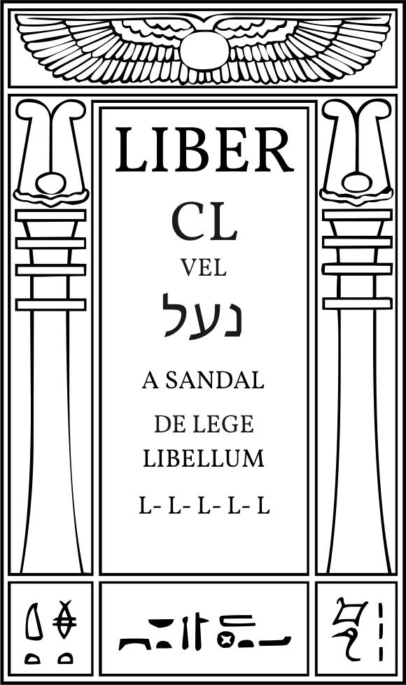 Liber CL vel לענ, A Sandal, De Lege Libellum
