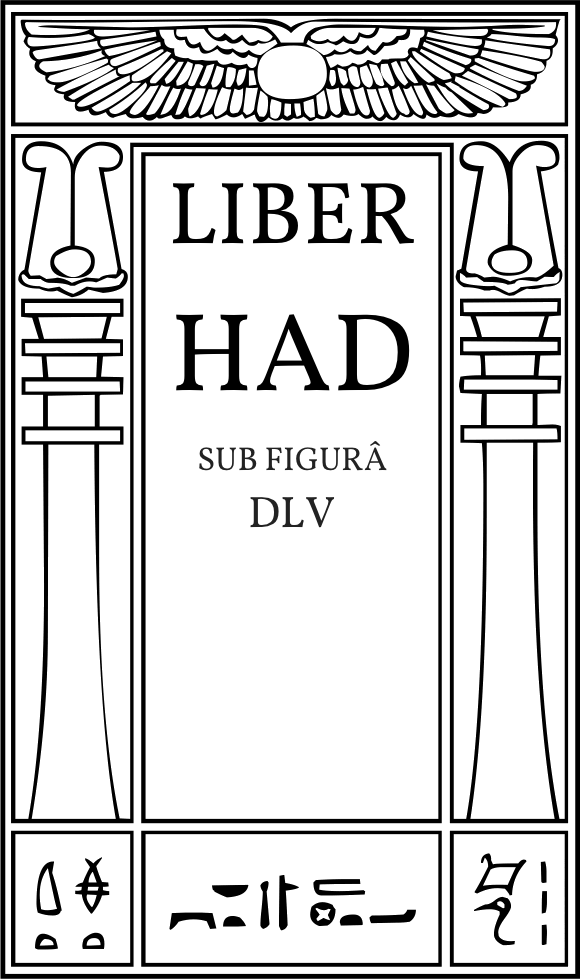 Liber HAD sub figurâ DLV