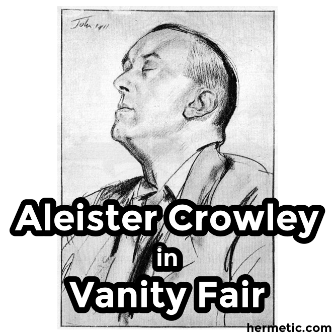 Aleister Crowley in Vanity Fair