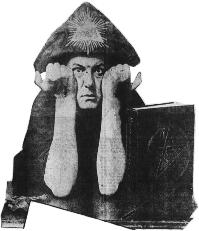 "Aleister Crowley In the Regalia of His ""Do What Thou Wilt"" Cult."