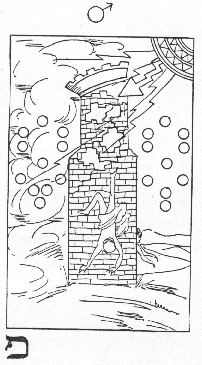 The Tower in Whare Ra's Golden Dawn Tarot