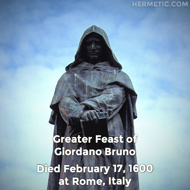 Greater Feast of Giordano Bruno on February 17