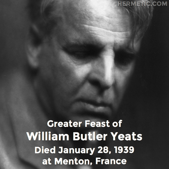 William Butler Yeats in Hermeneuticon at Hermetic Library