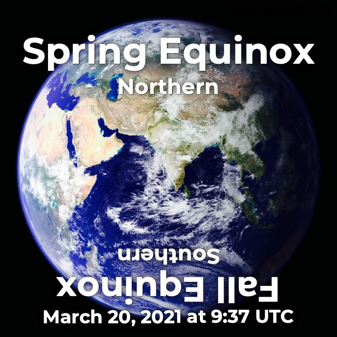 Spring Equinox, Northern Hemisphere, March 20, 2021 at 9:37 UTC in Hermeneuticon at Hermetic Library