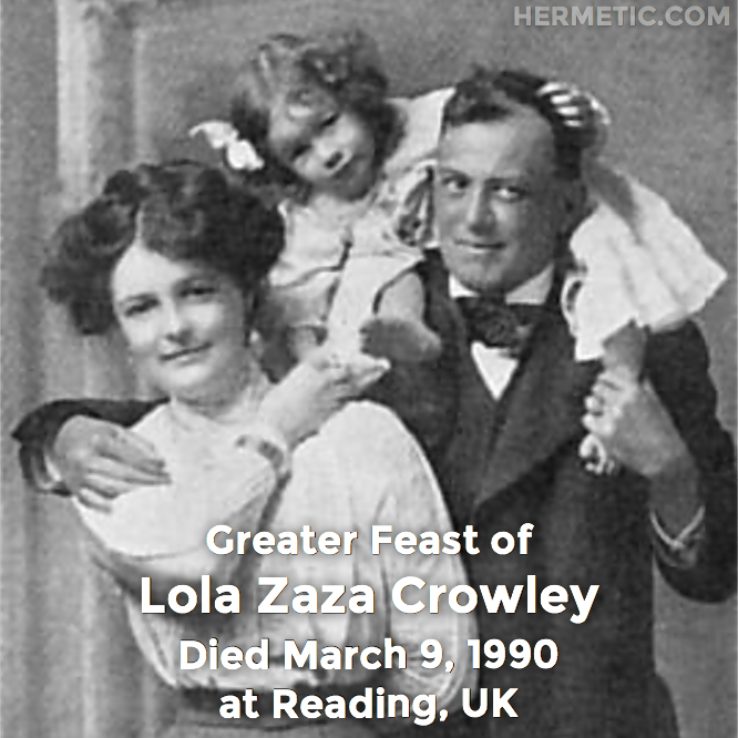 Lola Zaza Crowley, in Hermeneuticon at Hermetic Library