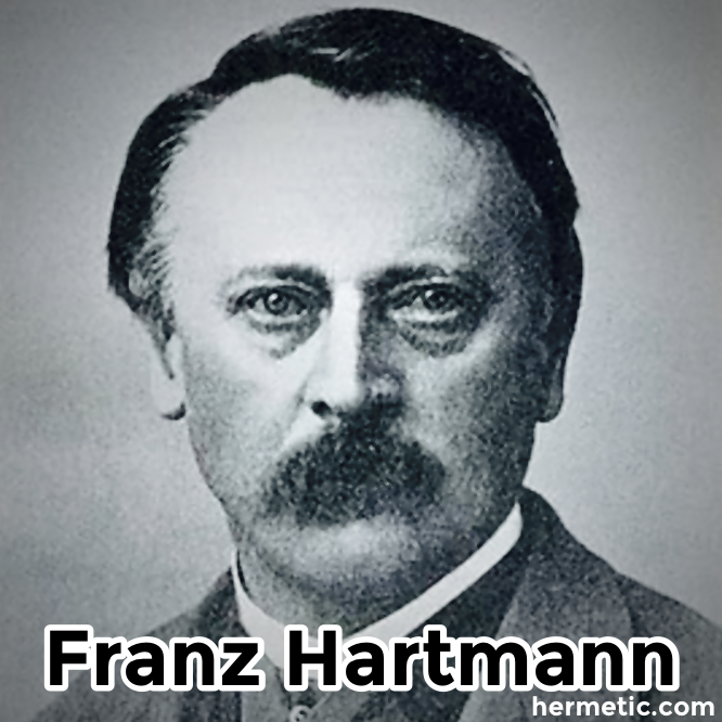 Franz Hartmann in Hermeneuticon at Hermetic Library
