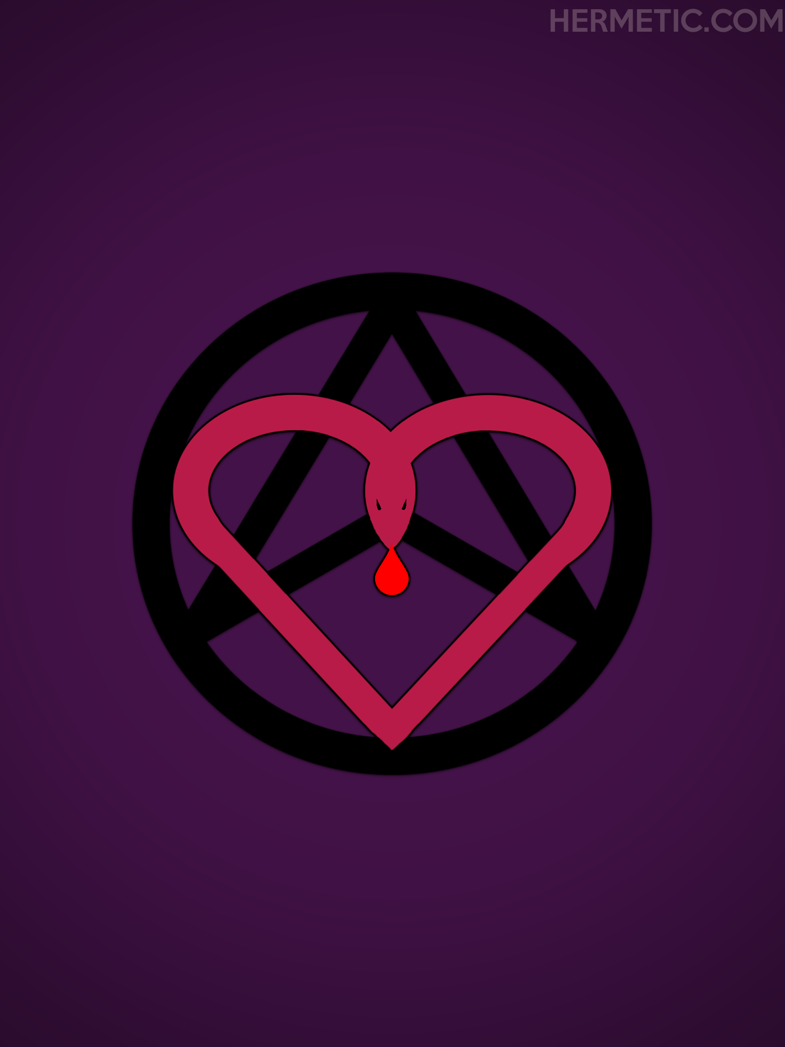 Unicursal Heart Serpent Blood Love Law Hexagram Propaganda Poster from Hermetic Library Office of the Ministry of Information
