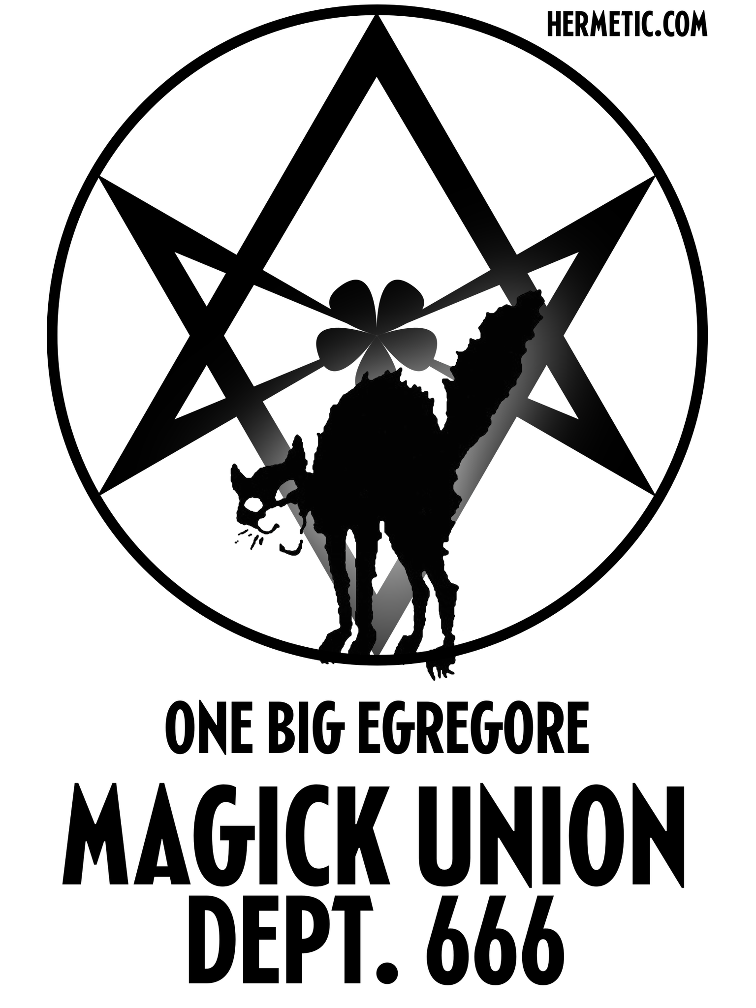 Unicursal Sabo Cat Magick Union Dept 666 One Big Egregore Propaganda Poster from Hermetic Library Office of the Ministry of Information