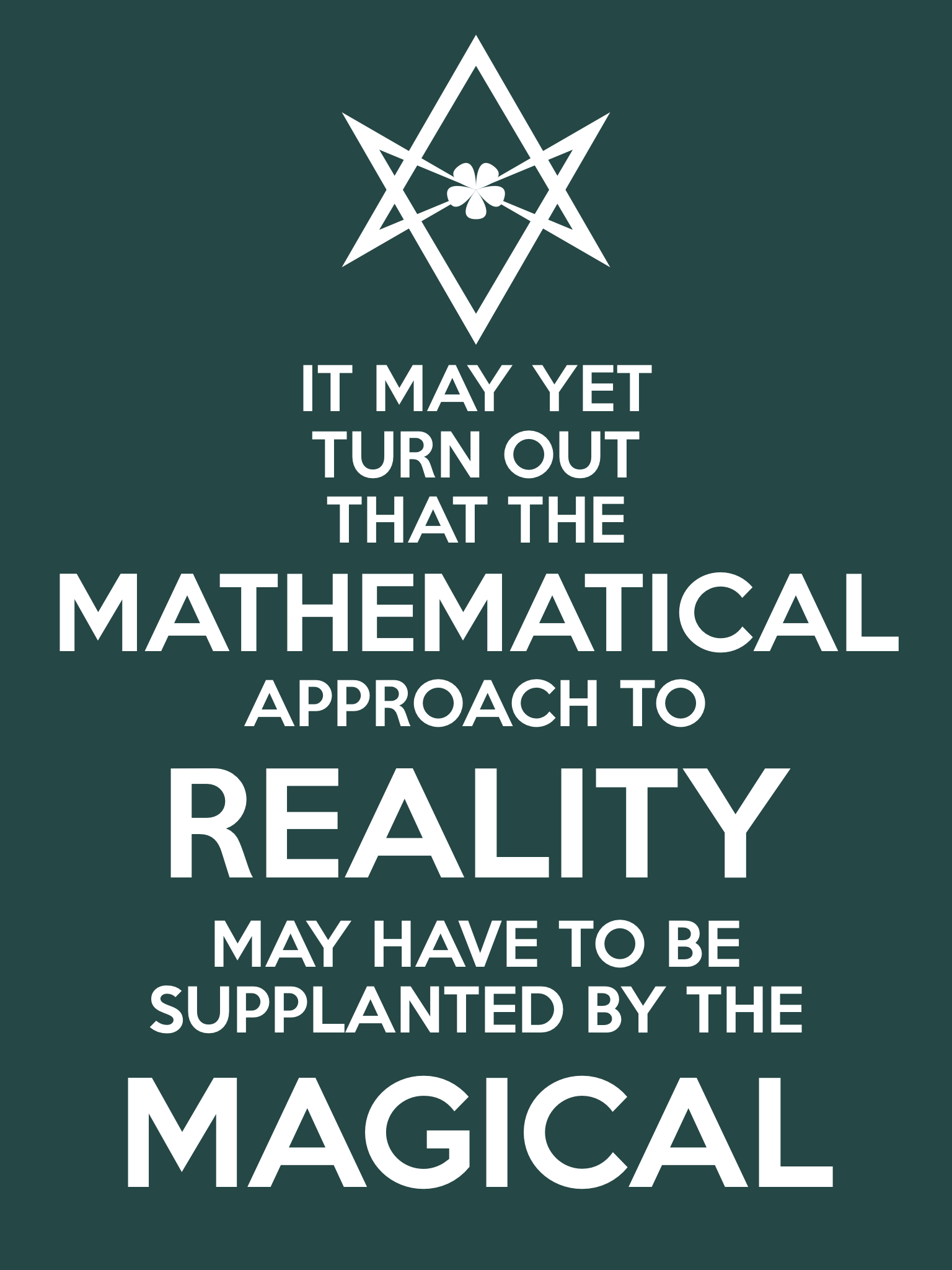 Unicursal MATHEMATICAL REALITY MAGICAL Poster from Hermetic Library Ministry of Information