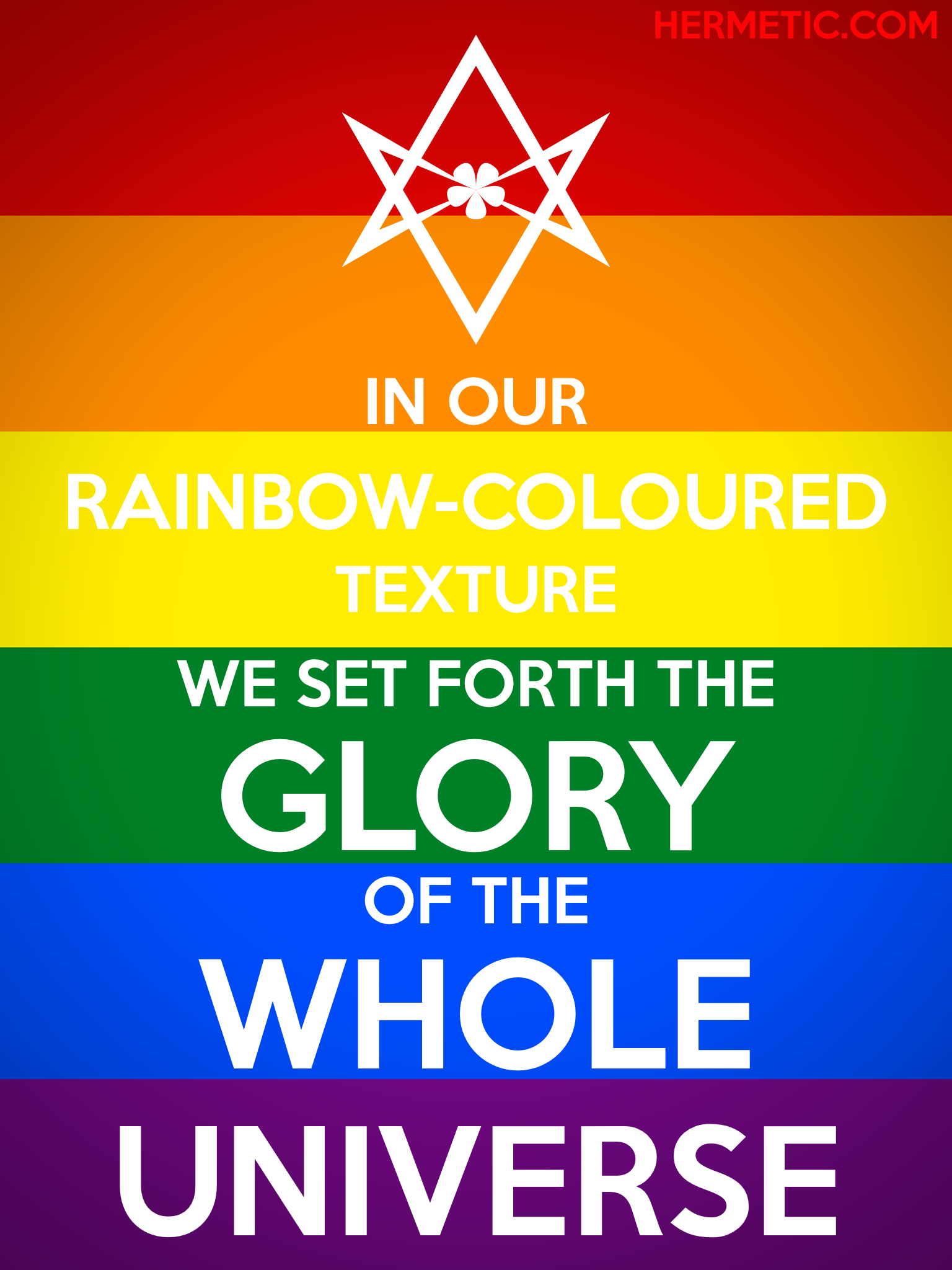 Unicursal RAINBOW-COLOURED TEXTURE Rainbow Pride propaganda poster from the Office of the Ministry of Information at Hermetic Library