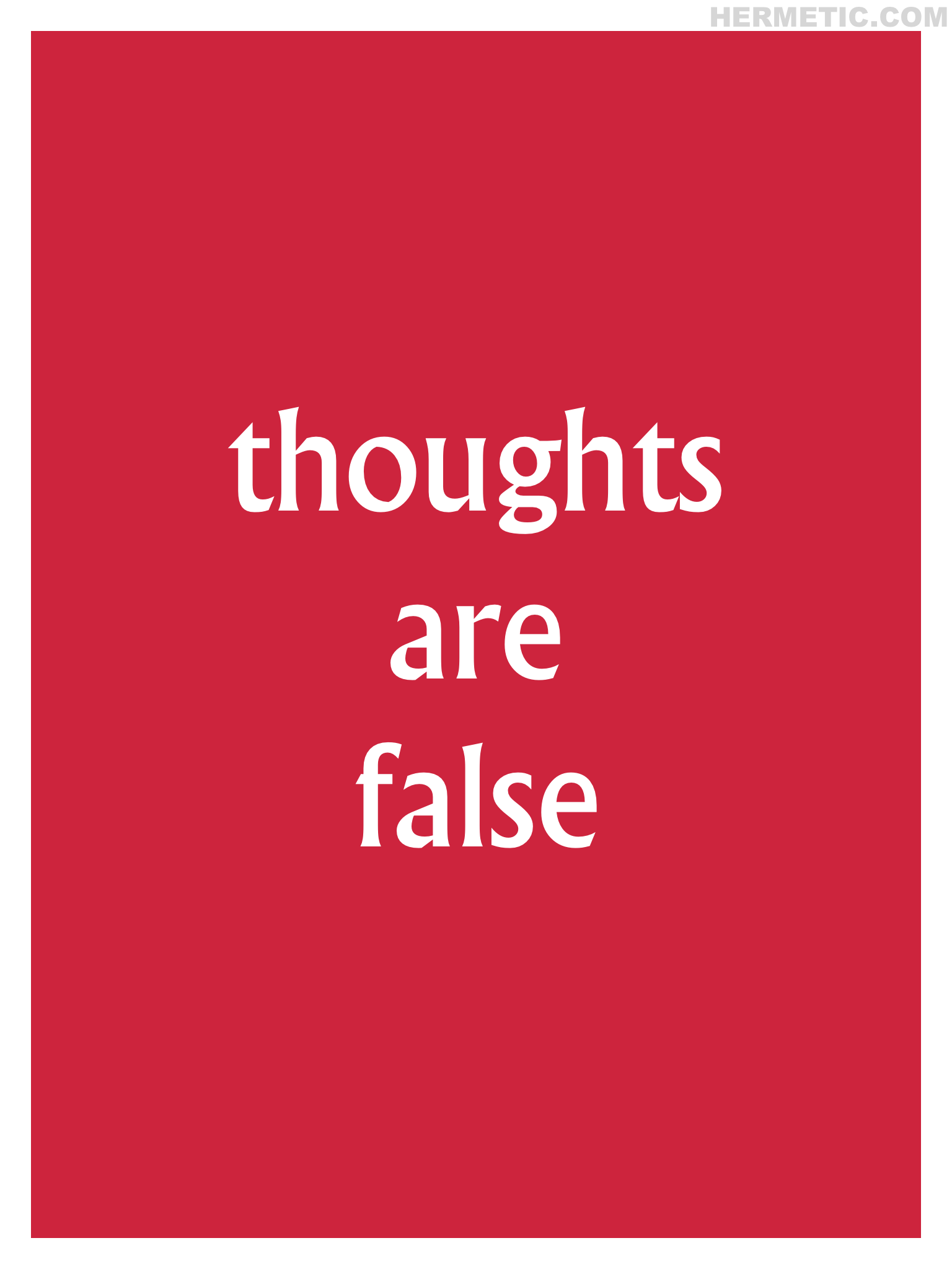 Village THOUGHTS ARE FALSE Propaganda Poster from Hermetic Library Office of the Ministry of Information