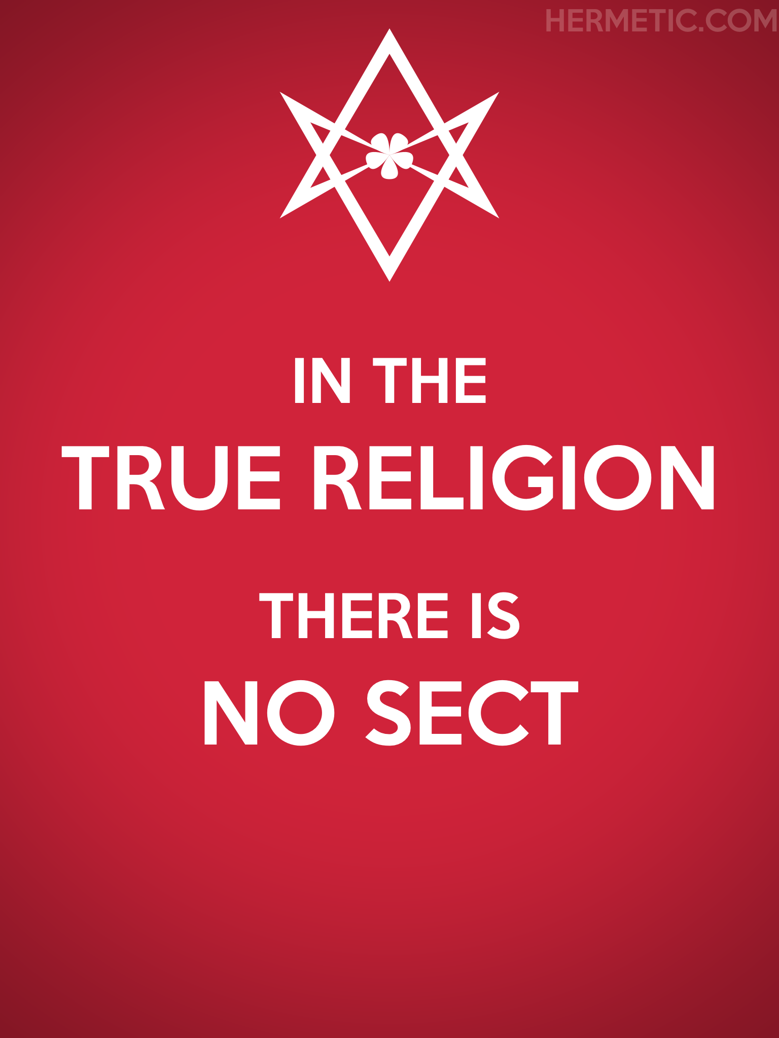 Unicursal TRUE RELIGION NO SECT Propaganda Poster from Hermetic Library Office of the Ministry of Information
