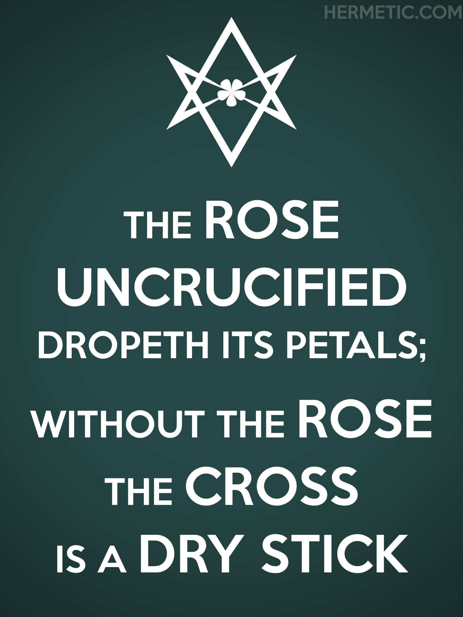 Unicursal UNCRUCIFIED DRY STICK Propaganda Poster from Hermetic Library Office of the Ministry of Information