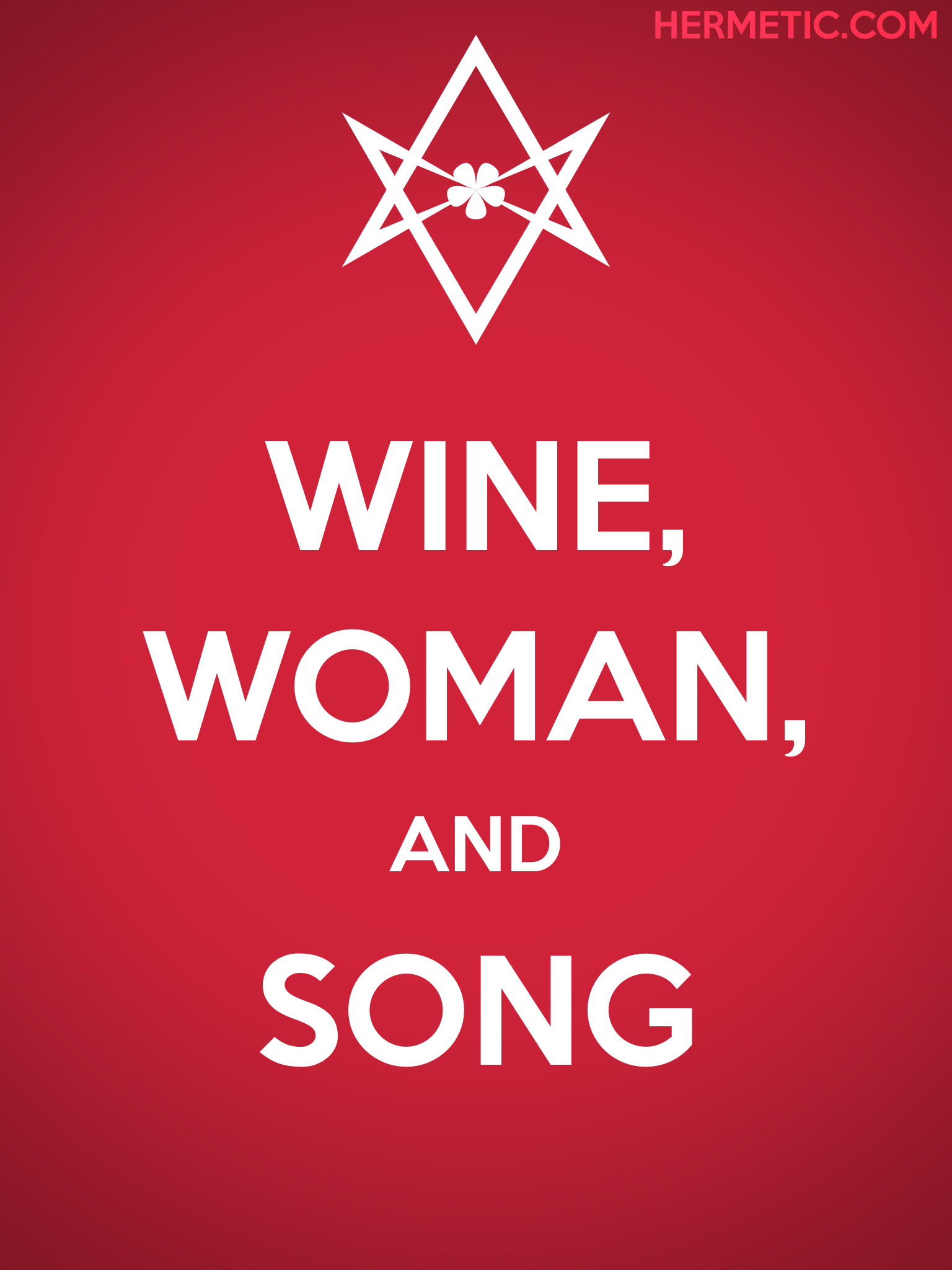 Unicursal WINE WOMAN SONG Poster from Hermetic Library Ministry of Information