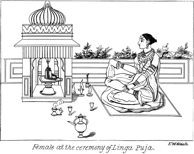 Female at the Ceremony of Linga Puja in Phallic Miscellanies by Hargrave Jennings at Hermetic Library