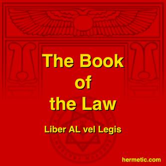 Aleister Crowley Liber AL vel Legis Book of the Law