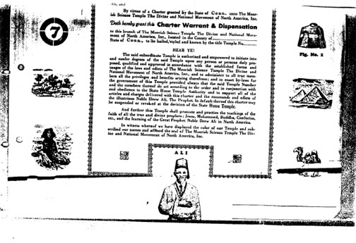 Charter Moorish Science Temple of America - Prophet Noble