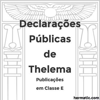 ΘΕΛΗΜΑ Declarações Públicas de Thelema
